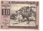 10 Heller (Wachau - Ranna-Mühldorf) – obverse