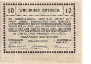10 Heller (Wachau) – reverse