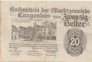 20 Heller (Langenlois) – obverse