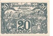 20 Heller (Waizenkirchen) – obverse