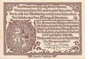 50 Heller (Waizenkirchen) – reverse