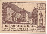 50 Heller (Weiten) – obverse