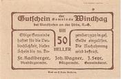 50 Heller (Windhag bei Waidhofen an der Ybbs) – reverse