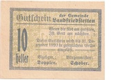 10 Heller (Landfriedstetten) – obverse