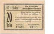 20 Heller (Landfriedstetten) -  obverse