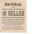 10 Heller (Hadres) -  obverse