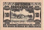 10 Heller (Grafenschlag) – obverse