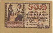 30 Heller (St. Johann in Tirol) -  obverse