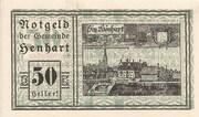 50 Heller (Henhart) -  obverse