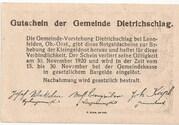20 Heller (Dietrichschlag bei Leonfelden) – reverse