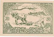 50 Heller (Dietrichschlag bei Leonfelden) – obverse