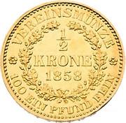 ½ Krone - Franz Joseph I -  reverse