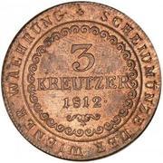 3 Kreutzer - Franz I -  reverse