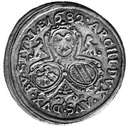 10 Kreuzer - Leopold I (Graz) -  reverse