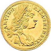 ½ Ducat - Karl VI (Graz) – obverse