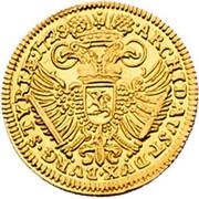 ½ Ducat - Karl VI (Graz) -  reverse