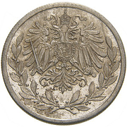 20 Heller - Franz Joseph I (Trial Strike) -  obverse