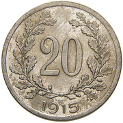 20 Heller - Franz Joseph I (Trial Strike) -  reverse