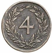 4 Kreuzer - Karl VI -  reverse