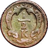½ Kreuzer - Franz I -  reverse