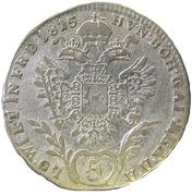 5 Kreuzer - Franz II -  reverse