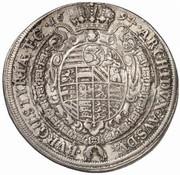 ½ Thaler - Leopold I (Graz) -  reverse