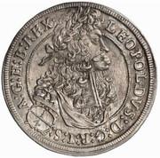 ¼ Thaler - Leopold I (Hall) -  obverse