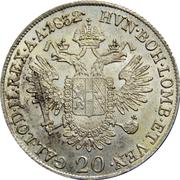 20 Kreuzer - Franz II -  reverse