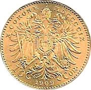 10 Corona - Franz Joseph I -  reverse