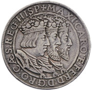 Thaler 3 Empereurs or DreiKaisertaler - Ferdinand I (Hall) -  obverse