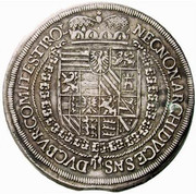 1 Thaler - Ferdinand II (Hall) -  reverse