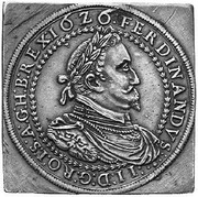 2 Thaler klippe - Ferdinand II (Graz) -  obverse