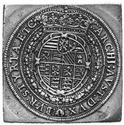 2 Thaler klippe - Ferdinand II (Graz) -  reverse