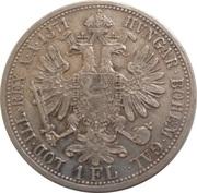 1 Florin - Franz Joseph I -  reverse