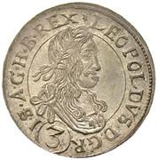 3 Kreuzer - Leopold I (Neuburg am Inn) -  obverse