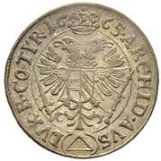 3 Kreuzer - Leopold I (Neuburg am Inn) -  reverse