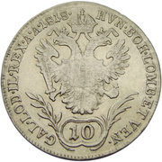 10 Kreuzer - Franz II -  reverse