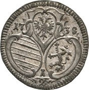 ½ kreuzer - Karl VI (Graz) – obverse