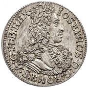 3 Kreuzer - Joseph I (Hall) -  obverse