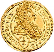 ¼ Ducat - Leopold I (Vienna) -  obverse