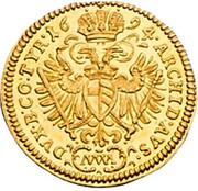 ¼ Ducat - Leopold I (Vienna) -  reverse