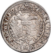 6 Kreuzer - Leopold I (Vienna) -  reverse