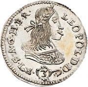 3 Kreuzer - Leopold I (Vienna) -  obverse