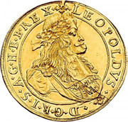 5 Ducat - Leopold I (Graz) – obverse