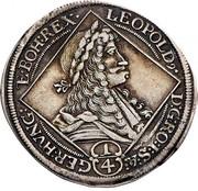 ¼ thaler Leopold I (Graz) -  obverse