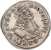 10 Kreuzer - Leopold I (St Veit) -  obverse