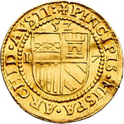 1 Ducat - Goldgulden - Ferdinand I (Vienna)) -  reverse