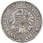 ½ Thaler - Ferdinand I (Linz) -  reverse