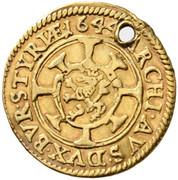 Gold strike of 1 Kreuzer - Ferdinand III (Graz) -  reverse