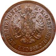 4 Kreuzer - Franz Joseph I -  obverse
